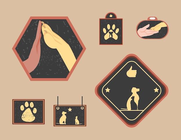 Set negozio di animali domestici