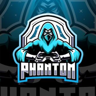 Phantom esport mascotte logo design