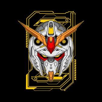 Illustrazione della testa del robot fantasma