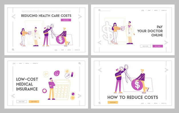 Insieme di modelli di pagina di destinazione per l'accessibilità della farmacia