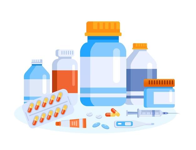 Pagina di destinazione del sito web di illustrazione vettoriale di farmaci farmaci farmacia farmacia