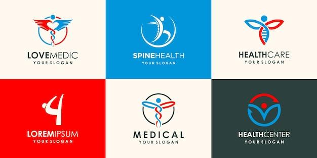 Logo della farmacia logo astratto logo della salute logo della natura