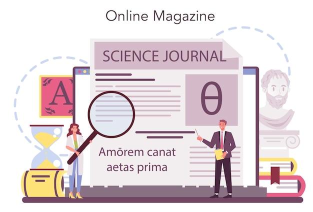 Piattaforma o servizio online di filologo