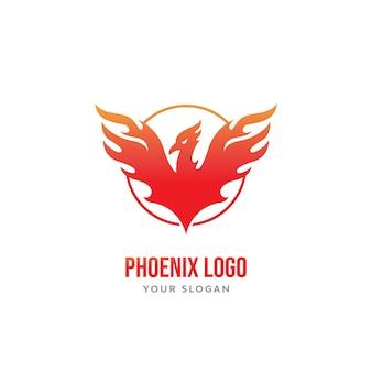 Vettore del logo dell'uccello della fenice