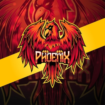 Phoenix esport mascotte logo design