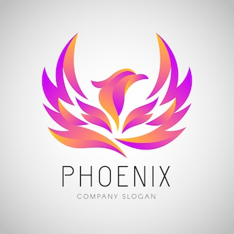 Concetto di logo di phoenix
