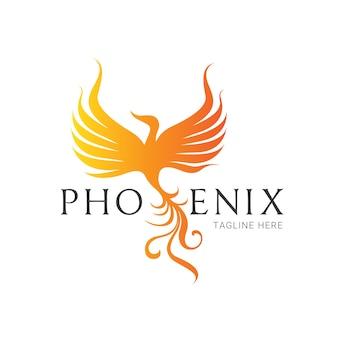 Logo di phoenix, simbolo di aquila e di uccello. modello di logo vettoriale.