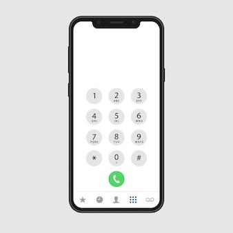 Schermata di chiamata