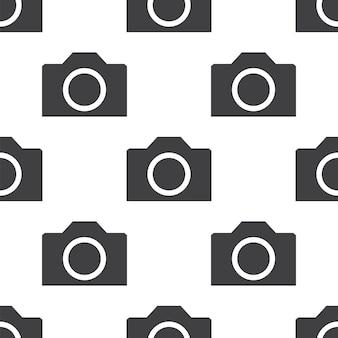 Fotocamera, modello vettoriale senza soluzione di continuità, modificabile può essere utilizzata per sfondi di pagine web, riempimenti a motivo