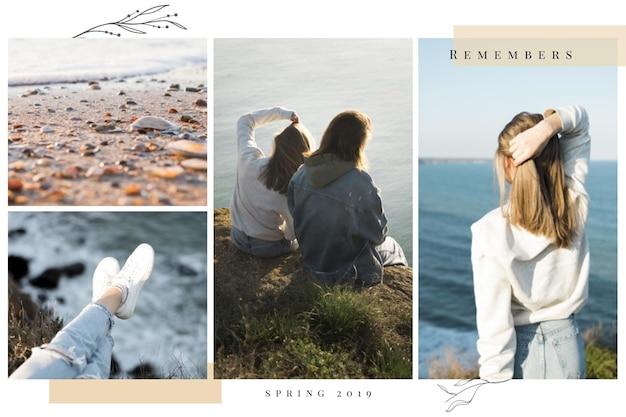 Progettazione di collage di foto