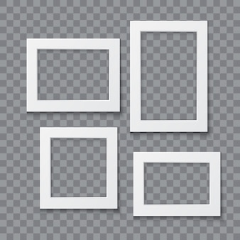 Illustrazione realistica di vettore della raccolta della struttura della foto isolata su fondo trasparente