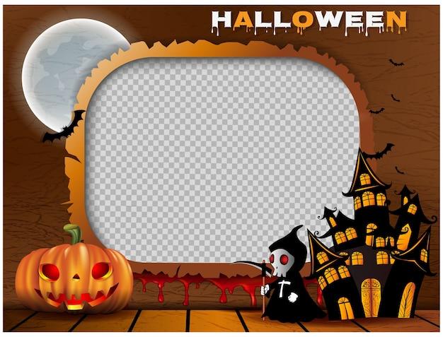 Cornice per foto di sfondo di halloween