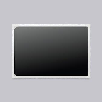 Photo frame isolato. cornice per foto d'epoca.