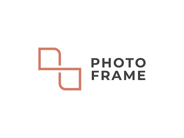Concetto di design del logo della cornice per foto