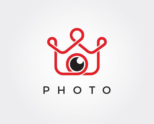 Modello di logo vettoriale foto re