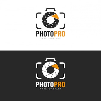 Photo studio logo design. Vettore Premium