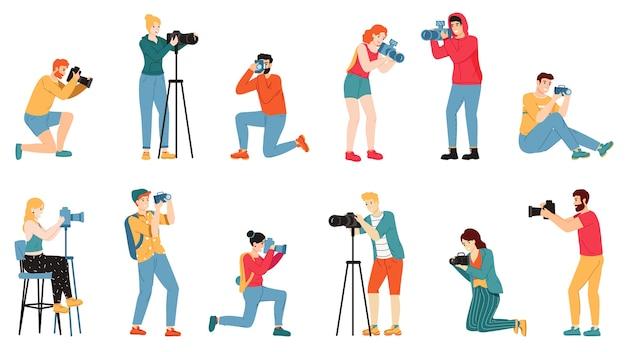 Illustrazione di caratteri del fotografo