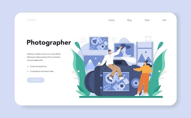 Banner web del fotografo o pagina di destinazione
