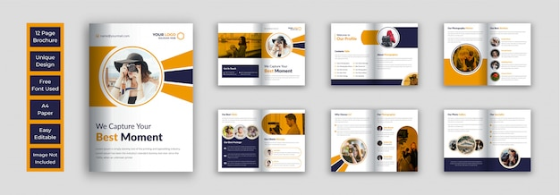 Modello di disegno vettoriale brochure fotografia