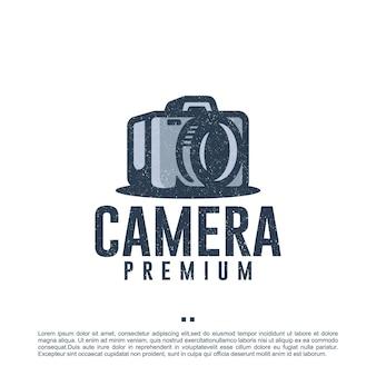 Fotografia, fotocamera, retrò, ispirazione per il design del logo