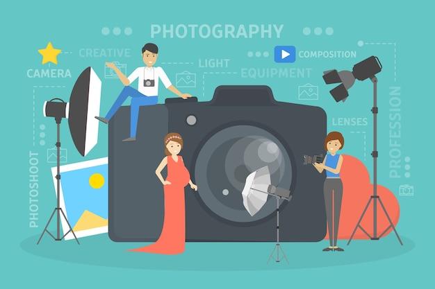 Illustrazione di concetto di fotografia