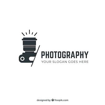Logo della fotografia in colore nero