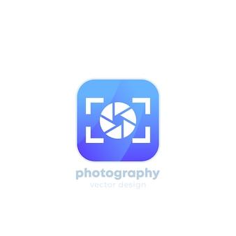 Logo di fotografia con fotocamera