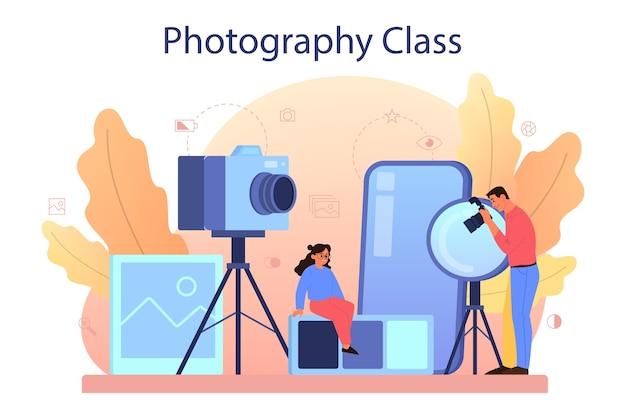Corso di scuola di fotografia.