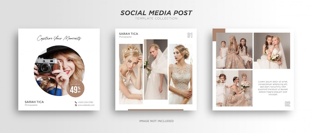 Modello di post sui social media di fotografia