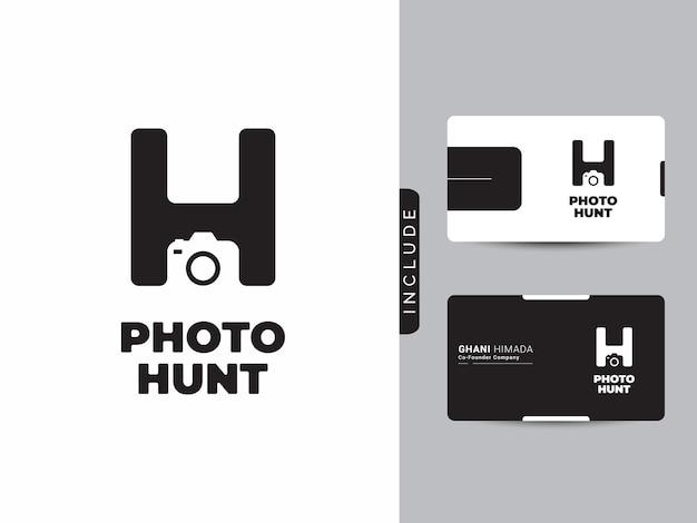 Concetto di design del logo dello studio fotografico