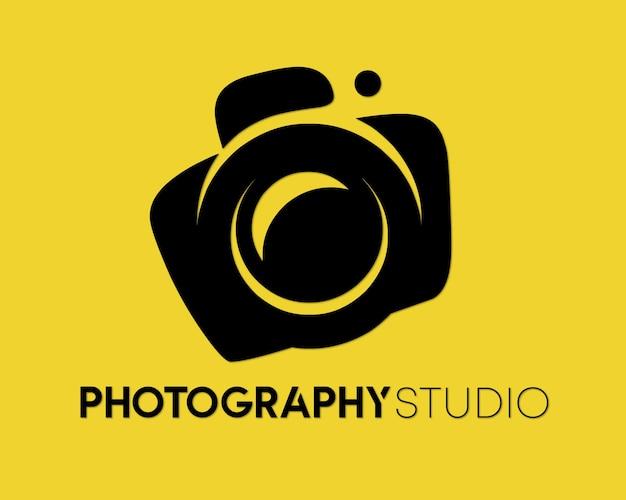 Vettore di progettazione del logo dello studio fotografico
