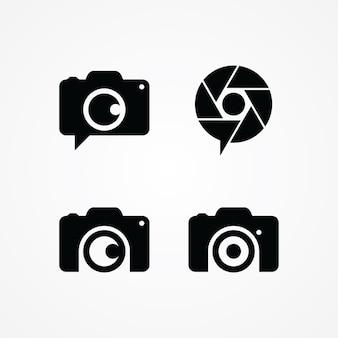 Simbolo di fotografia simbolo logotipo illustrazione di arte vettoriale Vettore Premium