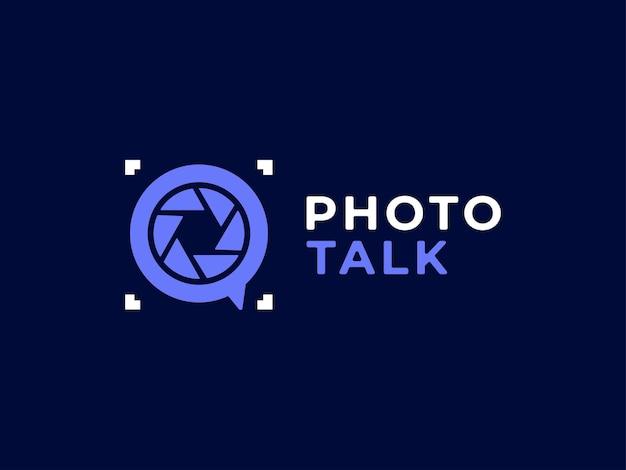 Fotografia parlare logo design concept