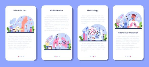 Set di banner per applicazioni mobili phthisiatrician