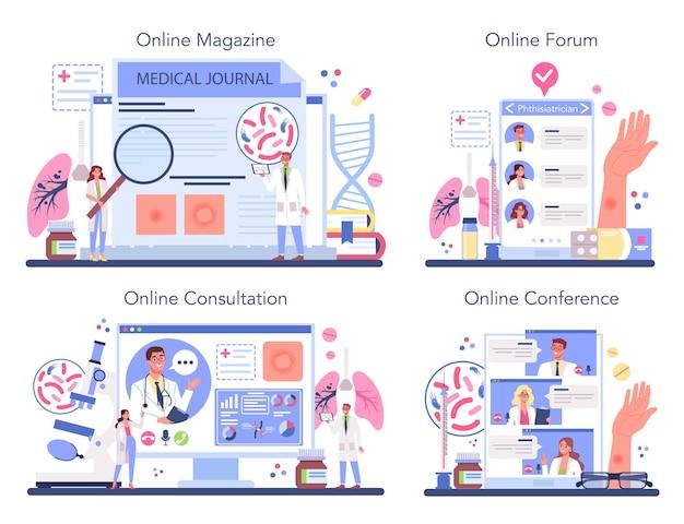 Servizio online o set di piattaforme phthisiatrician