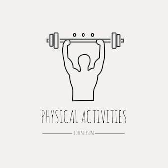 Icona di attività fisica. set di icone moderne linea sottile. elementi di grafica web design piatto.