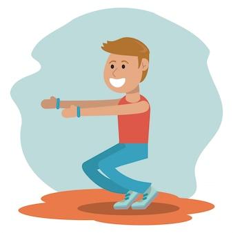Educazione fisica - scuola di allenamento per ragazzi