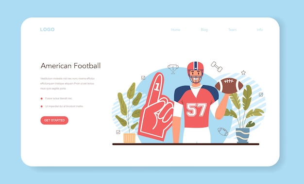 Banner web o pagina di destinazione della classe di educazione fisica o sport scolastico