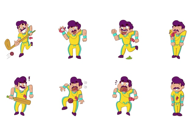 Set di adesivi per insegnanti di educazione fisica