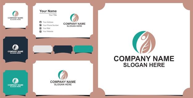 Collezione e biglietto da visita dell'illustrazione dell'icona di vettore del logo di terapia fisica
