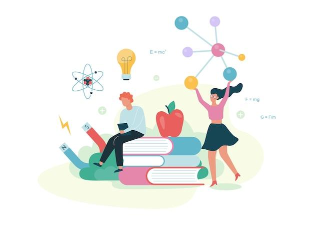 Concetto di fisica. idea di educazione e apprendimento