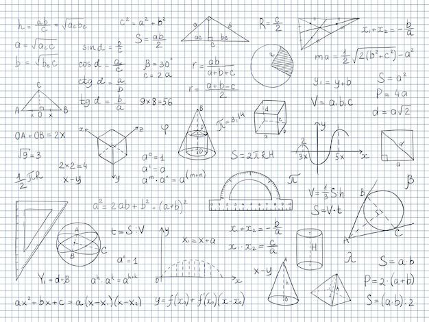 Formule ed equazioni di fisica e geometria