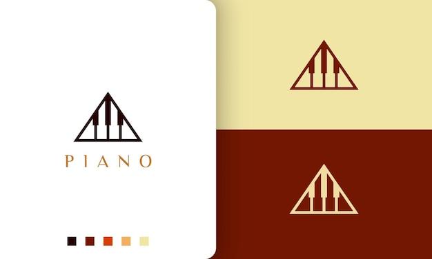 Logo o icona dell'accademia di pianoforte in uno stile minimalista e moderno
