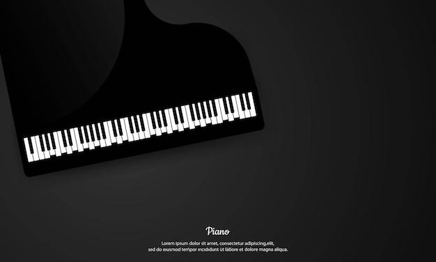 Sfondo di pianoforte. sfondo di pianoforte di musica classica.