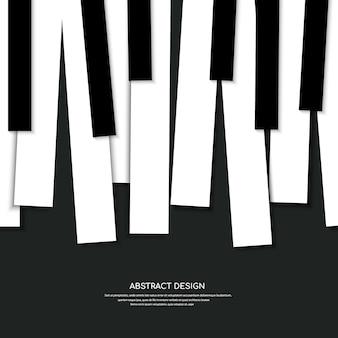 Sfondo di pianoforte e tasti del concetto di pianoforte