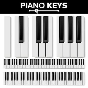 Tastiere di pianoforte Vettore Premium