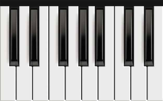 Tasti del piano. strumento musicale realistico