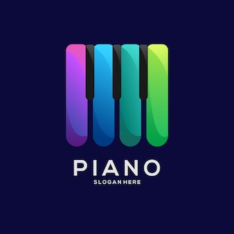 Illustrazione variopinta del gradiente del logo del pianoforte