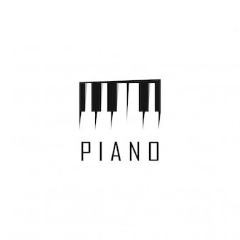 Disegno del modello logo pianoforte. illustrazione. icone e logo astratti di web del piano.