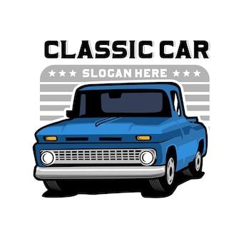 Pick up truck, modello di logo distintivo del camion
